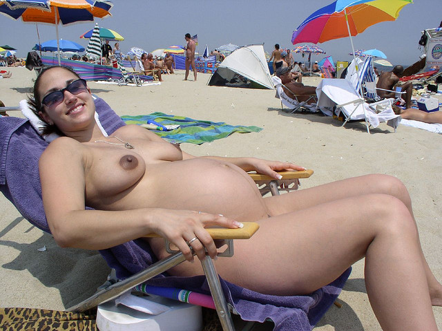 beach Naked pregnant women sex nude
