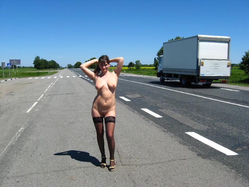 фото секс на трассе